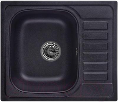 Мойка кухонная Granula GR-5801 (черный) - общий вид