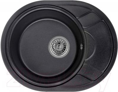 Мойка кухонная Granula GR-5802 (черный) - общий вид