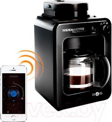 Капельная кофеварка Redmond SkyCoffee RCM-M1505S - управление при помощи смартфона (в комплект не входит)