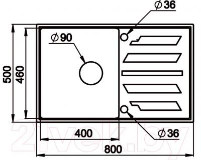 Мойка кухонная Granula GR-8002 (классик) - схема