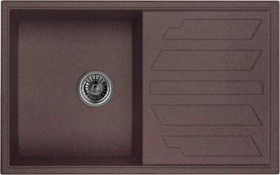 Мойка кухонная Granula GR-8002 (шоколад) - общий вид (образец цвета может отличаться от реального цвета мойки)