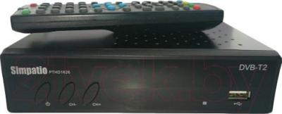 Тюнер цифрового телевидения Simpatio PTHD1626 - общий вид с пультом