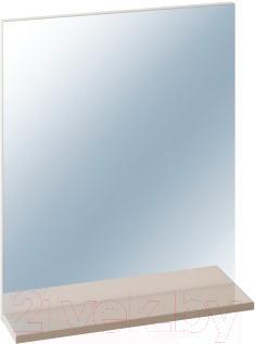 Зеркало для ванной Cersanit Easy (с полкой, капучино) - общий вид