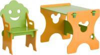 Стол+стул Столики Детям СО-4 Гном (салатово-оранжевый) -