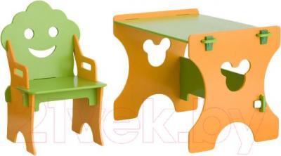 Стол+стул Столики Детям СО-4 Гном (салатово-оранжевый) - общий вид