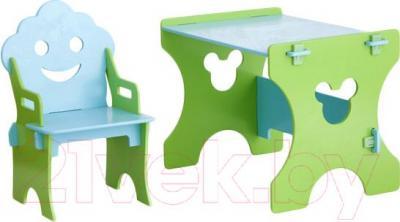 Стол+стул Столики Детям СГ-4 Гном (салатово-голубой) - общий вид