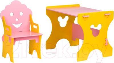 Стол+стул Столики Детям ЖР-4 Гном (желто-розовый) - общий вид