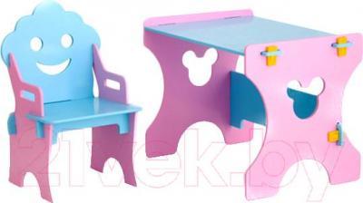 Стол+стул Столики Детям РГ-4 Гном (розово-голубой) - общий вид