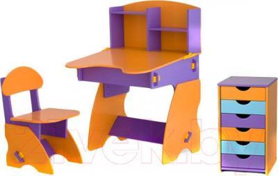 Стол+стул Столики Детям ФОК-2 (фиолетово-оранжевый) - общий вид