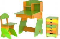 Стол+стул Столики Детям СОК-2 (салатово-оранжевый) -