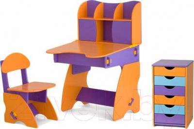 Стол+стул Столики Детям ФОК-3 (фиолетово-оранжевый) - общий вид