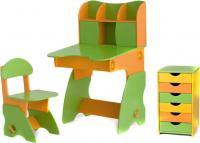 Стол+стул Столики Детям СОК-3 (салатово-оранжевый) -