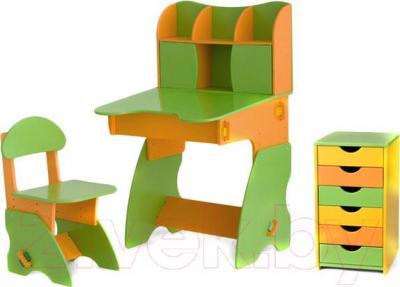 Стол+стул Столики Детям СОК-3 (салатово-оранжевый) - общий вид