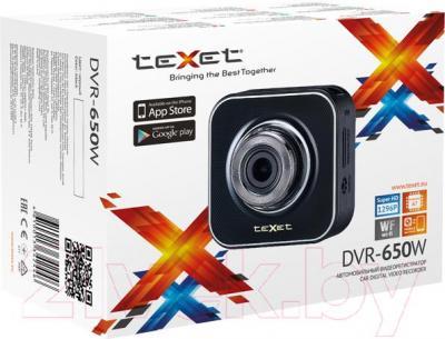 Автомобильный видеорегистратор TeXet DVR-650W - упаковка