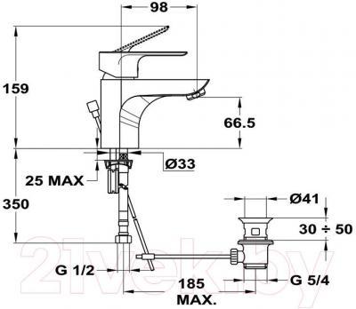 Смеситель Mofem Trend Plus 150-1563-00 - технический чертеж