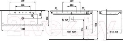Умывальник Laufen Living Square 130x48 (8164360001041)