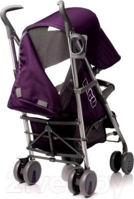 Детская прогулочная коляска 4Baby City 2015 (фиолетовый) - окошко для мамы