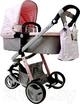 Детская универсальная коляска Anex Zana Putti 2 в 1 (розовый) - общий вид
