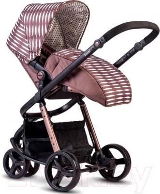 Детская универсальная коляска Anex Tempo 2 в 1 (коричневый) - чехол для ног