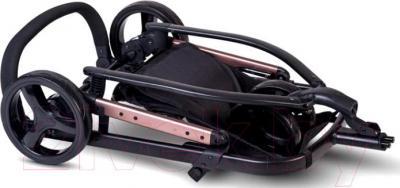 Детская универсальная коляска Anex Tempo 2 в 1 (коричневый) - в сложенном виде