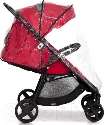 Детская прогулочная коляска EasyGo Quantum Black (Carbon) - дождевик