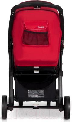 Детская прогулочная коляска EasyGo Quantum Black (Mocca) - вид сзади