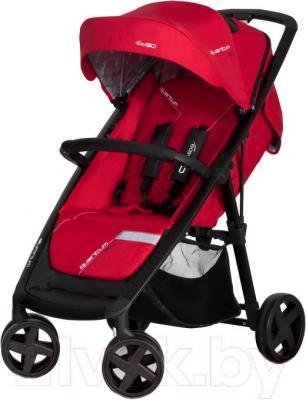 Детская прогулочная коляска EasyGo Quantum Black (Scarlet) - общий вид