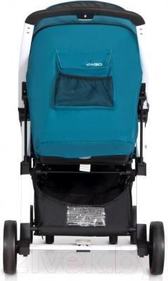 Детская прогулочная коляска EasyGo Quantum White (Carbon) - вид сзади