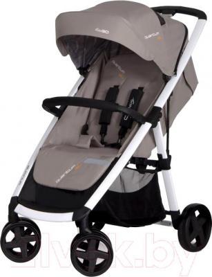 Детская прогулочная коляска EasyGo Quantum White (Mocca) - общий вид