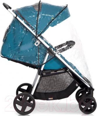 Детская прогулочная коляска EasyGo Quantum White (Mocca) - дождевик