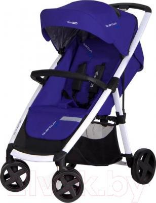 Детская прогулочная коляска EasyGo Quantum White (Navy) - общий вид