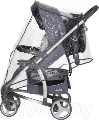 Детская прогулочная коляска EasyGo Virage (Carbon) - с дождевиком