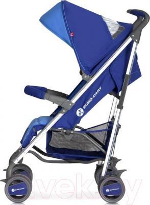 Детская прогулочная коляска Euro-Cart Crossline (Navy) - вид сбоку