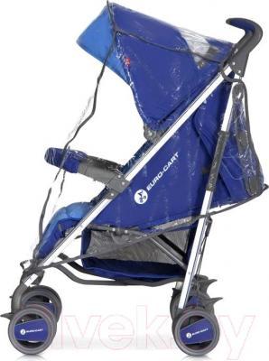 Детская прогулочная коляска Euro-Cart Crossline (Navy) - дождевик
