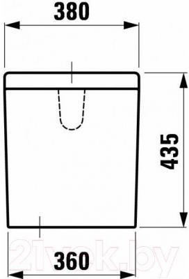Сливной бачок Laufen LB3 (8286830002911) - габаритные размеры