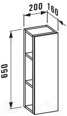 Шкаф с зеркалом для ванной Laufen LB3 20x16x65 (4427110685621)