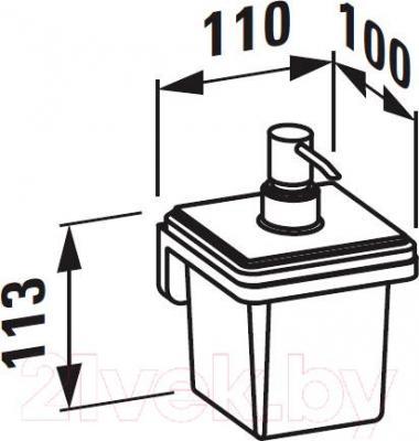 Дозатор жидкого мыла Laufen LB3 (3846830040001) - схема