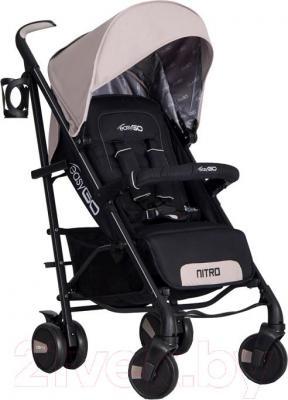 Детская прогулочная коляска EasyGo Nitro (Latte) - общий вид
