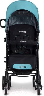 Детская прогулочная коляска EasyGo Nitro (Latte) - вид спереди