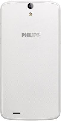 Смартфон Philips Xenium V387 (белый + синяя сменная панель)