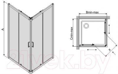 Душевой уголок Sanplast KN/TX4-90-S (матовое стекло с рисунком)