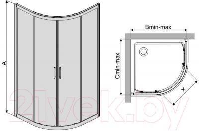 Душевой уголок Sanplast KP4/TX5-80-S (матовое стекло с рисунком)
