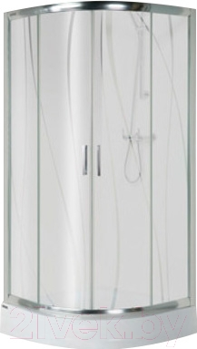 Душевой уголок Sanplast KP4/TX5-90-S (матовое стекло с рисунком)