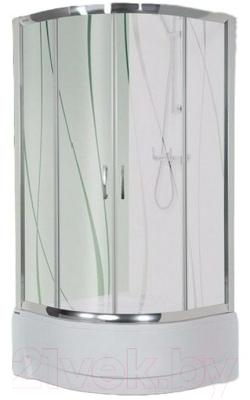 Душевой уголок Sanplast Kpl-KP4/TX5a-90/165-S (тонированное стекло)