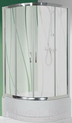 Душевой уголок Sanplast Kpl-KP4/TX5a-90/165-S (матовое стекло с рисунком)