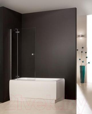 Стеклянная шторка для ванны Sanplast PW2/FREE-90-S - общий вид