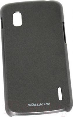 Накладной чехол Nillkin Multi-Color (черный, для Nexus 4/E960) - общий вид