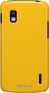 Накладной чехол Nillkin Multi-Color (желтый, для Nexus 4/E960) - общий вид
