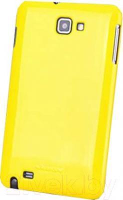 Накладной чехол Nillkin Shining (желтый, для Galaxy Note/N7000) - общий вид