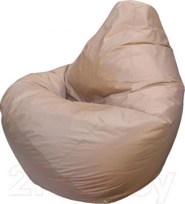 Бескаркасное кресло Flagman Груша Макси Г2.2-01 (темно-бежевый) - общий вид